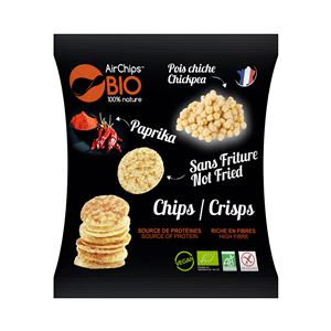 Chips Pois Chiche Paprika Bio* sans friture, AirCHips, 30 g